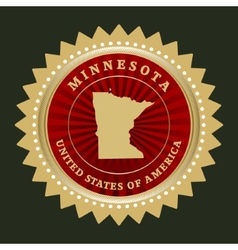 Star label Minnesota vector