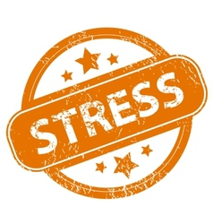 Stress grunge icon vector