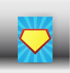 superman poster and brochure design vector image