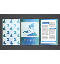 The brochure in polygonal style Travel beach rest vector