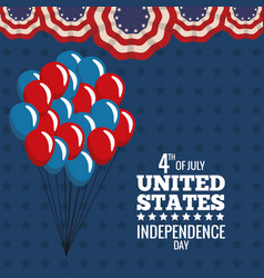 United states independence day july holiday vector