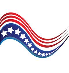 usa star flag logo stripes design elements vector image