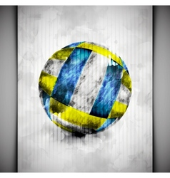 Volleyball ball watercolor vector