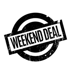 Weekend deal rubber stamp vector