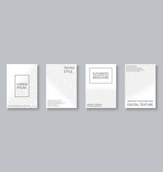 white geometric covers set - digital design vector image