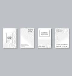 white geometric covers set - digital design vector image