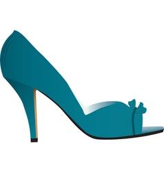 Woman high heeled shoe vector image