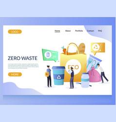 Zero waste website landing page design vector