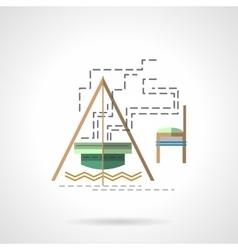 Campfire flat color icon vector image