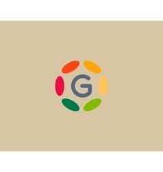 Color letter G logo icon design Hub frame vector image vector image