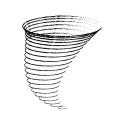 icon cyclone tornadoes in the linear flat style vector image