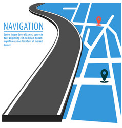 navigation with pin pointer vector image