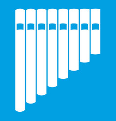 pan flute icon white vector image