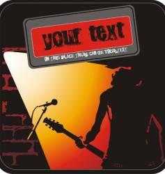 rock music poster vector image vector image