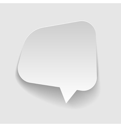 Speech bubbles Sticker cut from paper vector image vector image