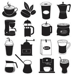 Coffee Icons Design vector image