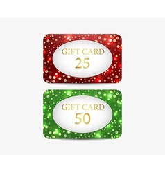 Gift card set of shiny gift cards vector image vector image