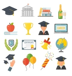 Graduation education set vector image