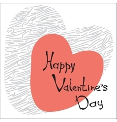 Hand sketched Happy Valentine s Day text vector image vector image