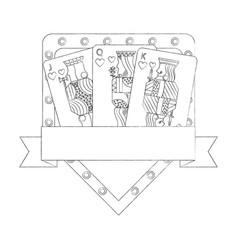 poker casino jack queen king card gambling board vector image