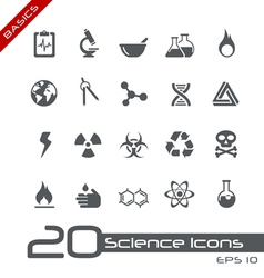 Science Basics Series vector image vector image