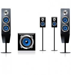 speaker set vector image vector image
