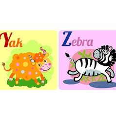 Yak and Zebra vector image