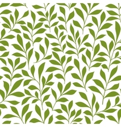 Green twigs with leaves seamless pattern vector image vector image