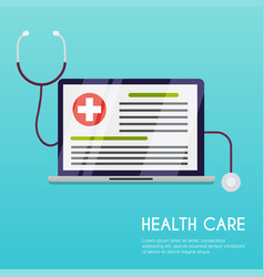 medical concept flat design style modern vector image vector image