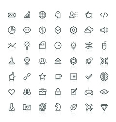 Modern thin line icons set of doing business vector image