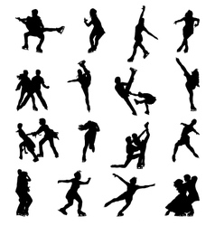skaters vector image
