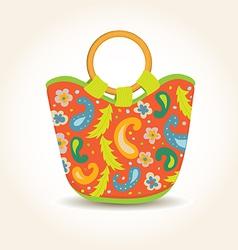 Summer Woman Bag with China Print vector image