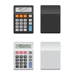 2 Calculators - front and back vector image vector image