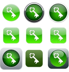 Key green app icons vector image vector image