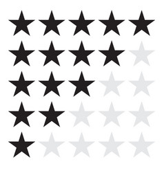 product rating or customer review feedback with vector image