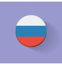 Round icon with flag of Russia vector image vector image