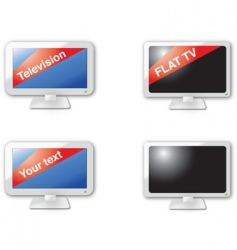 television vector image vector image
