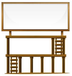 a wooden billboard banner vector image