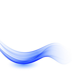 abstract blue wave background flow blue vector image
