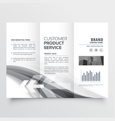 Abstract creative business brochure three fold vector