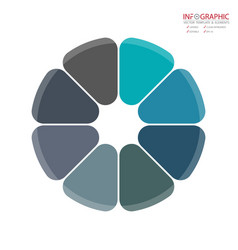 Abstract element infographics 8 option design for vector