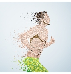 Abstract image of a athlete running man from vector