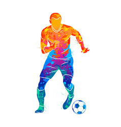 Abstract professional soccer player quick shooting vector