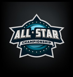 All star sports template logo design vector