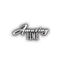 Amazing Pointillism dotworking - Calligraphy vector