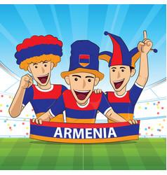 Armenia football fans soccer supporter vector