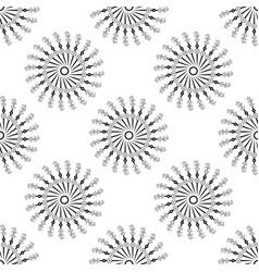 beautiful seamless pattern with snowflake circle vector image