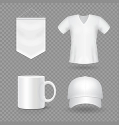 Blank mock-up promotional gifts realistic vector