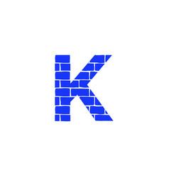 Brick logo letter k vector