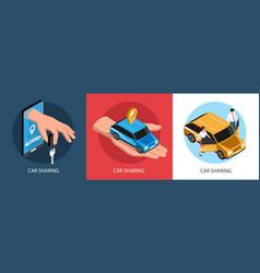 car sharing design concept vector image
